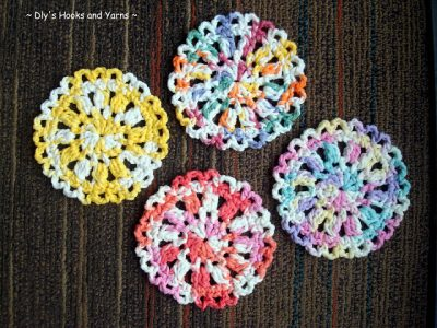 padrão de porta-copos de crochê