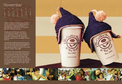 xícara de café crochet acolhedor