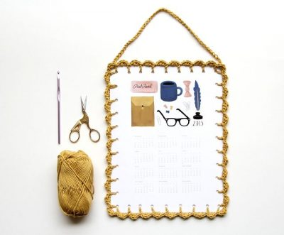 crochet edge calendar 400x331 Another Edition of Crochet Link Love!