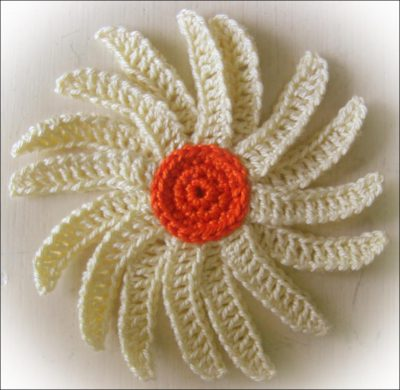 crochet flower trey ajusto