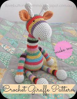 padrão de girafa de crochet