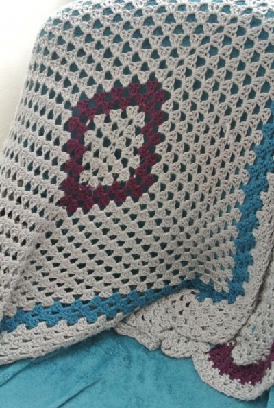 crochet granny square blanket 400x595 Loose Ends (Crochet as Metaphor)
