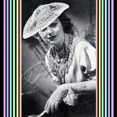 crochet hat and gloves pattern 400x400 50 Years of Crochet History: 1936