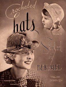 crochet de chapeaux des années 1930