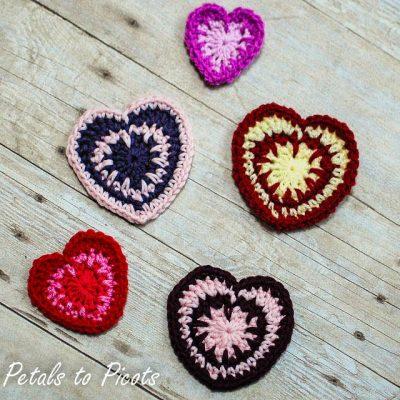Crochet Patrón de corazón