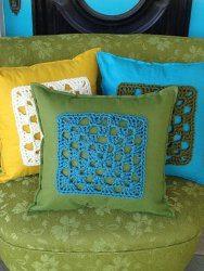 padrões de almofada de crochet