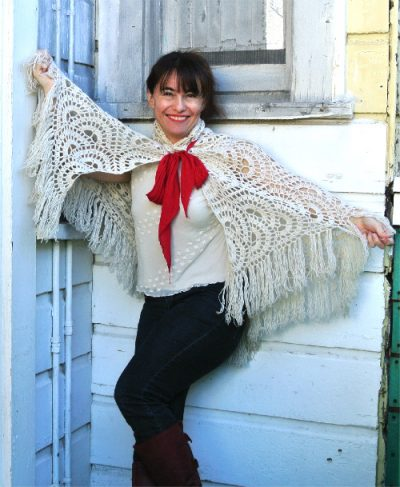 crochet shawl cape