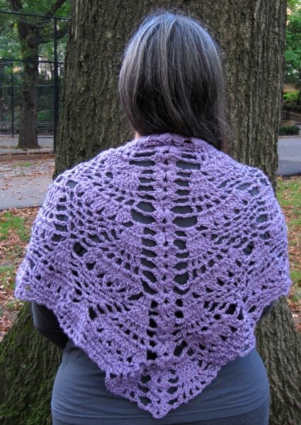 Crochet Shawl Pattern : LAUREN, Crochet shawl pattern, PDF
