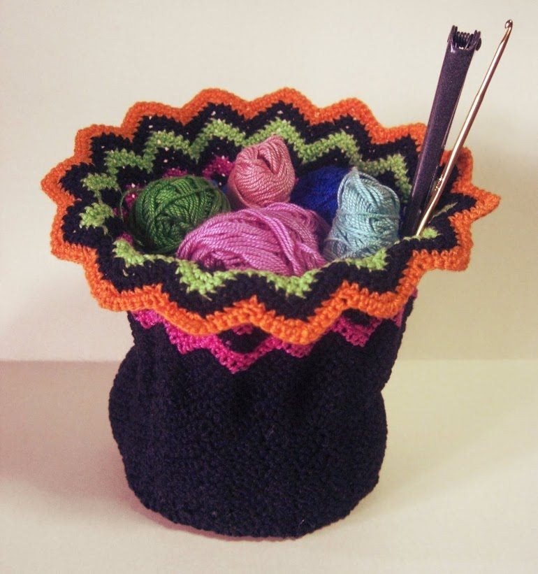 crochet yarn basket