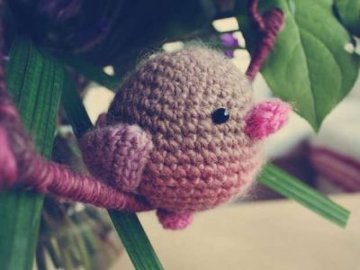cute crochet bird