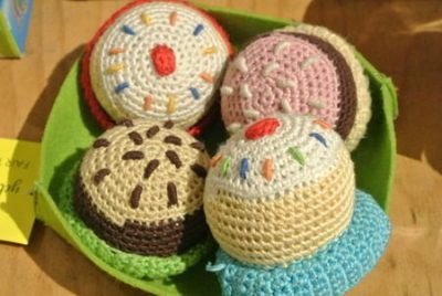 fair trade crochet rattle