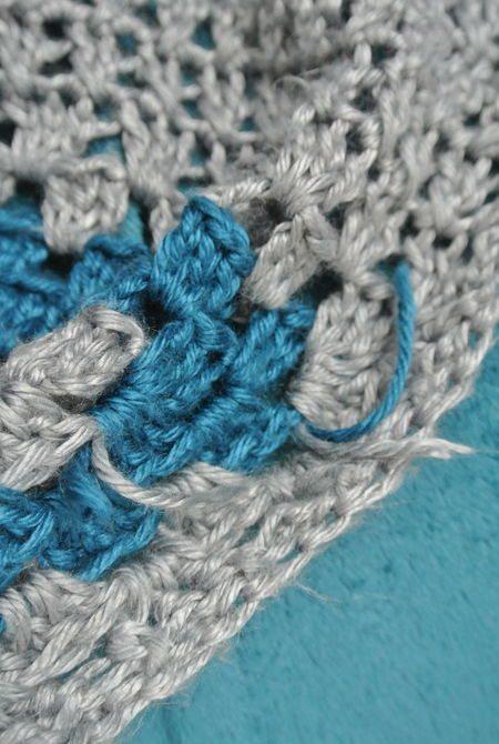 granny square blanket weave ends