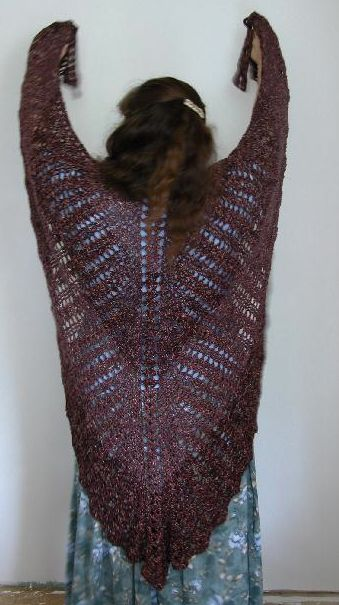 Crochet Patterns Large Hook : large crochet shawl pattern