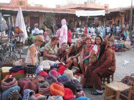 Marrakech por el retiro de ganchillo