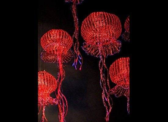 metal crochet jellyfish fisch