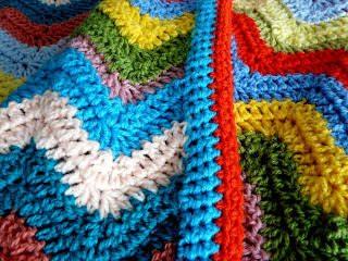 padrão de manta Ripple crochet