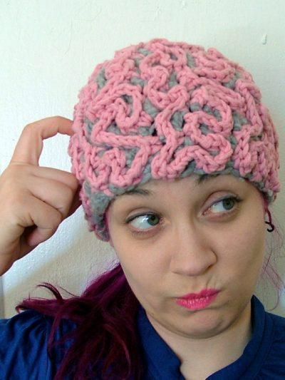 sarah louisa burns crochet brain 400x533 25 More Crochet Artists to Inspire You