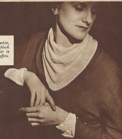 vintage crochet collar and cuffs 400x456 50 Years of Crochet History: 1936