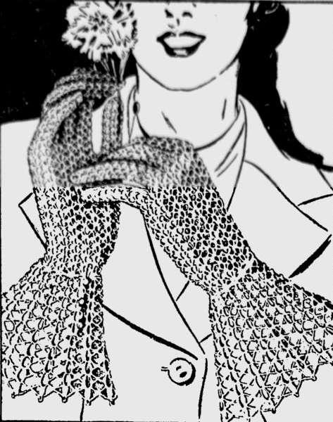vintage crochet fingerless gloves