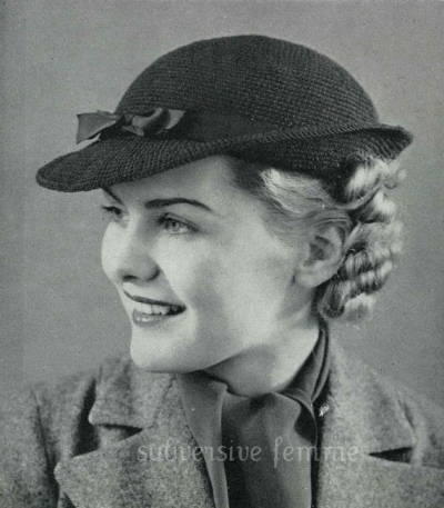 vintage crochet hat pattern 400x457 2013 in Crochet: Vintage and Retro Crochet