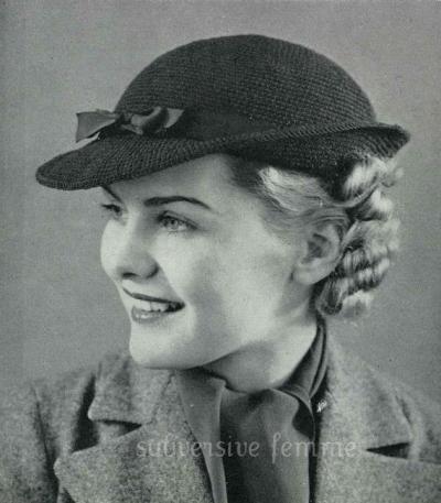 modèle de chapeau au crochet Vintage