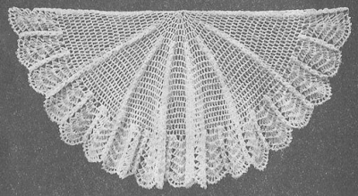 vintage crochet shawl 400x220 50 Years of Crochet History: 1933