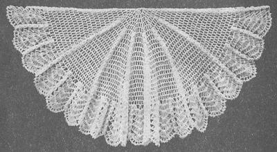 xale de crochê vintage
