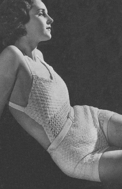 vintage crochet swimsuit 400x617 50 Years of Crochet History: 1934