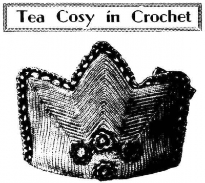 vintage crochet teapot cozy