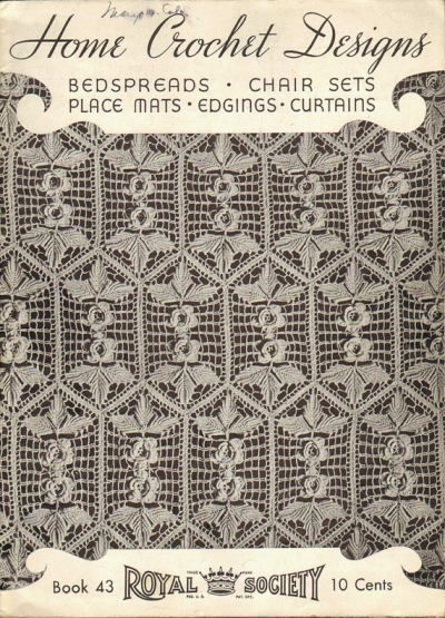 vintage filet crochet book 400x555 50 Years of Crochet History: 1936
