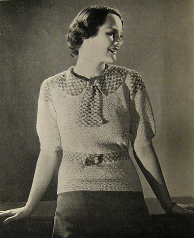 1930s crochet sweater pattern