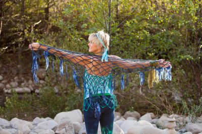 Blue Shawl 400x266 The Healing Beauty of a Crafty Life with Designer Lise Solvang
