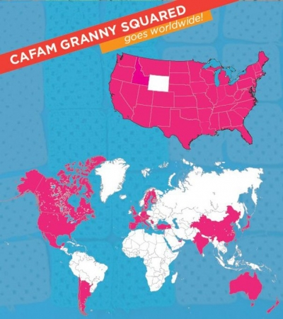 CAFAM project 400x450 Granny Squared: The Yarnbomb Projects Catalog Book