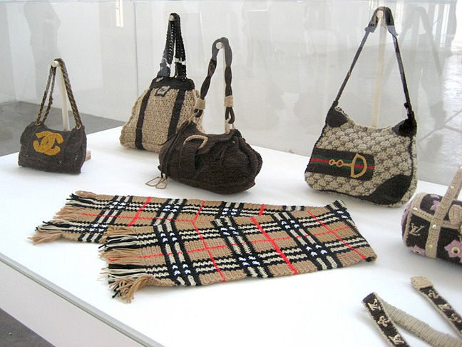 counterfeit crochet purses