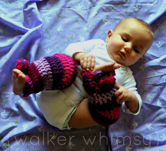 Haak baby beenwarmers patroon