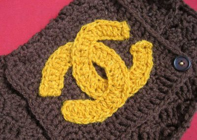 crochet chanel bag 400x284 Artist Stephanie Syjuco of The Counterfeit Crochet Project