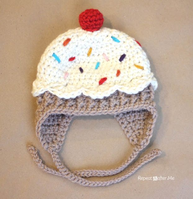 Free Doll Knitting Patterns Download : crochet cupcake hat pattern
