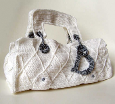 crochet dior handbag 400x362 Artist Stephanie Syjuco of The Counterfeit Crochet Project