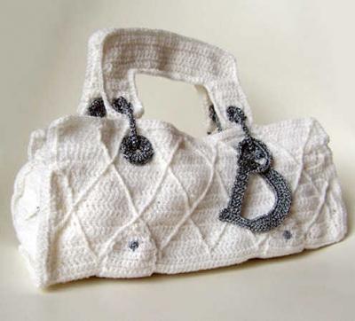 crochet dior handbag