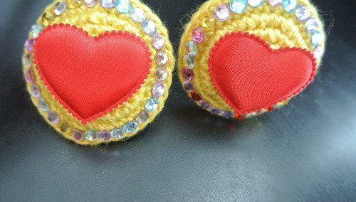 crochet heart pasties