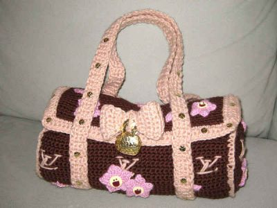 crochet louis vuitton bag 400x300 Artist Stephanie Syjuco of The Counterfeit Crochet Project