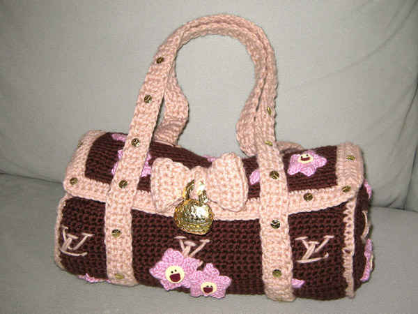 Designer Crochet Handbags : crochet louis vuitton bag