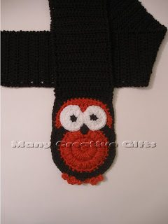 crochet owl scarf pattern (Inter)National Crochet Month So Far