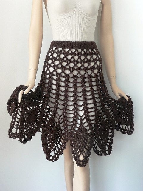 crochet poncho skirt pattern