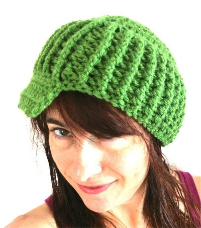 crochet post stitch brim hat 400x455 Vickie Howells Top 10 Crocheted Hats