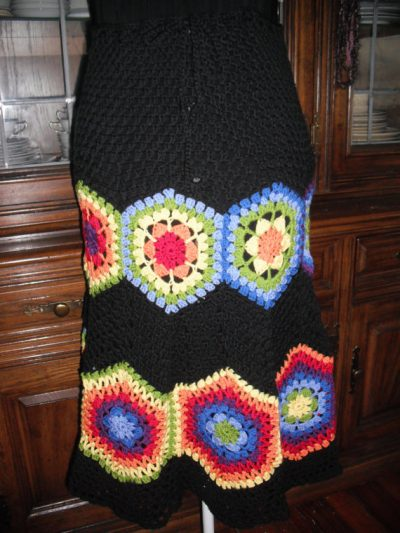 crochet rainbow skirt