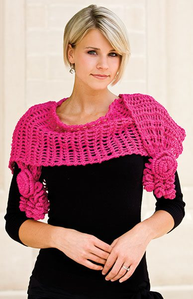 crochet roses shawl