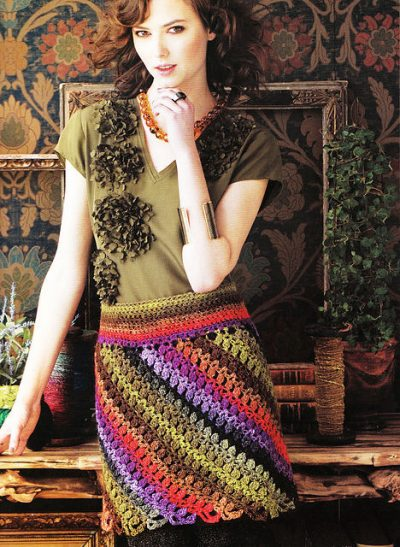 crochet skirt pattern1 400x547 10 Beautiful Crochet Skirts, Spotlighted on Pinterest