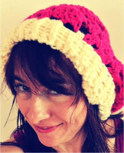 crochet slouch hat 400x491 Vickie Howells Top 10 Crocheted Hats