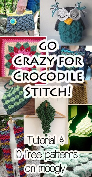 crocodile stitch crochet I Heart Crochet Blogs! This Weeks Link Love!